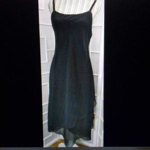 Sz 8 Ursula Beautiful Black Midi Dress